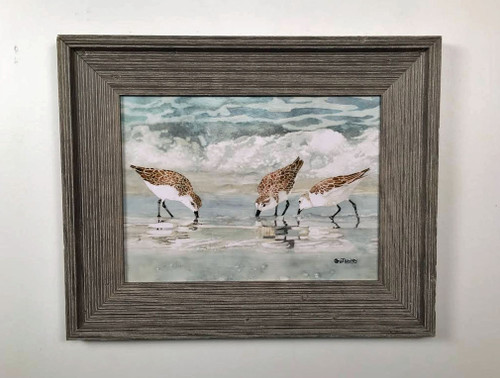 Sandpipers Framed Wall Art 19 x 21""