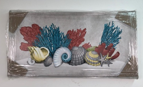 Coral and Shells Canvas Wrap Painting