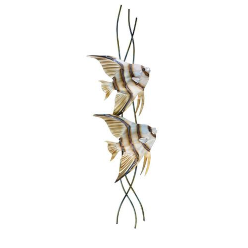Angel Fish Pair Vertical Facing Right