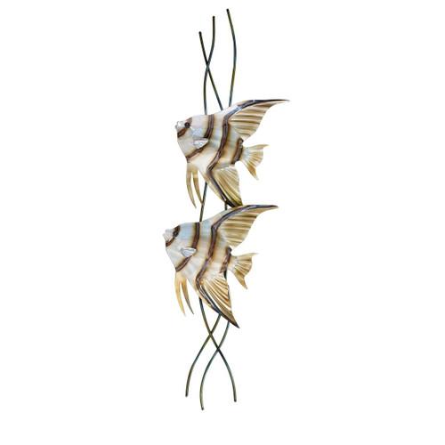 Angel Fish Pair Vertical Facing Left