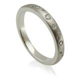 Bespoke Commission - Diamond & 18ct White Engagement Band
