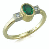 Remodel - Emerald and diamond gold ring
