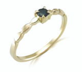 Remodel - Diamond & Sapphire gold ring