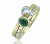 Remodel - Diamond & Emerald stacking rings