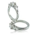 Matching trilogy diamond & platinum engagement rings