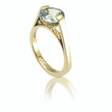 Aquamarine and gold engagement ring