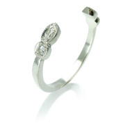 Open diamond white gold wedding band