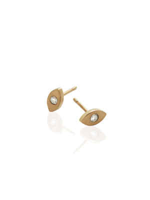 STAY Marquise 9ct Gold & Diamond Earring Stud