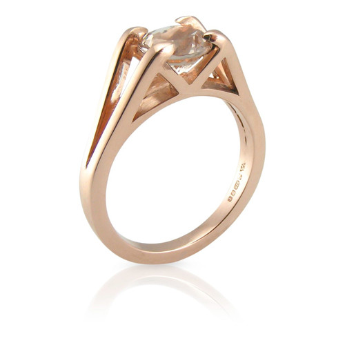 Morganite True Minimal 9ct Gold Ring