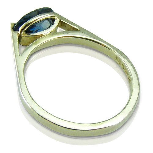 SOLD Limited Edition - Blue Sapphire Solitaire White Gold Ring