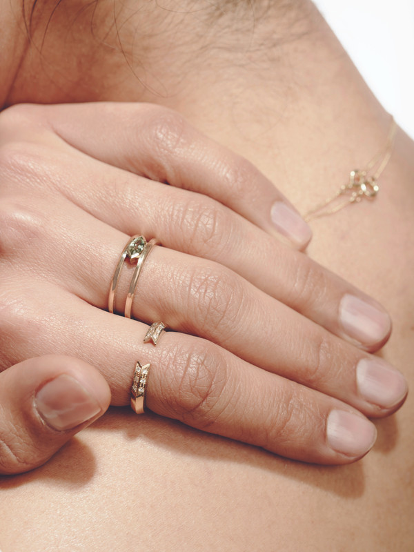 STAY 18ct Gold & Diamond Ring Set