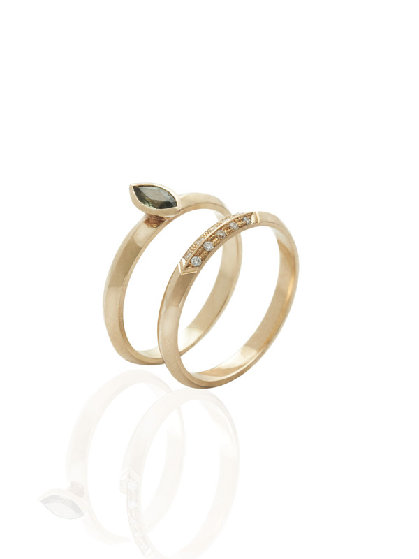 The ALWAYS ring shown here with the GRACE ring