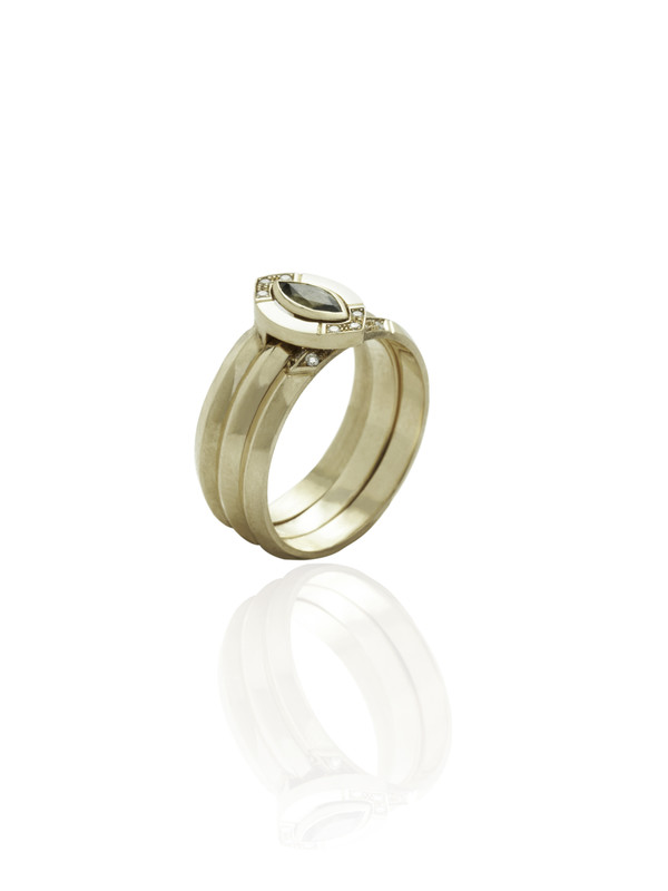 GRACE ring shown here with the ALWAYS & HALO ring