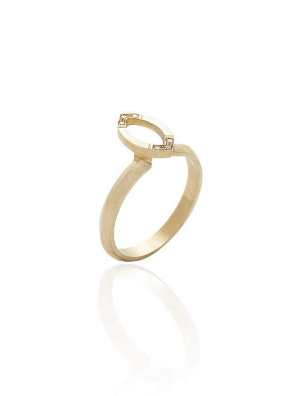 Halo 9ct Gold & Diamond Ring