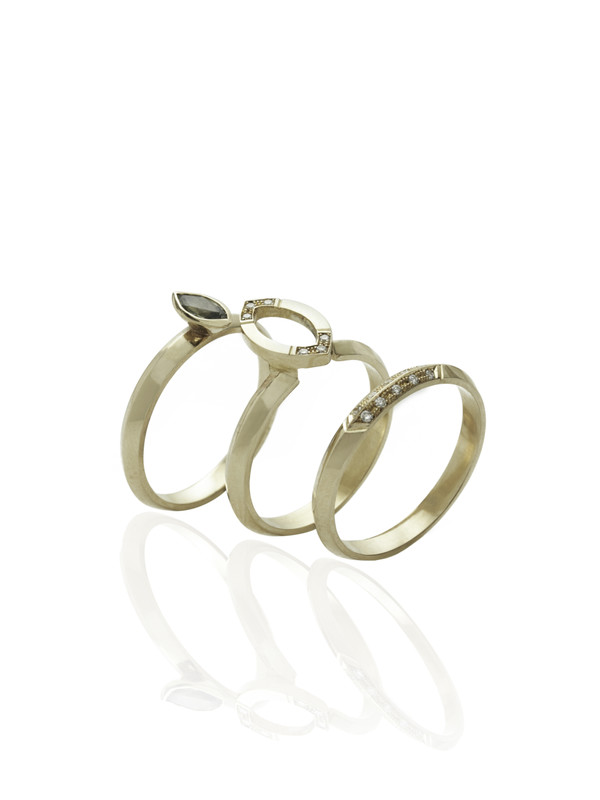 The HALO ring shown here with the GRACE and ALWAYS ring