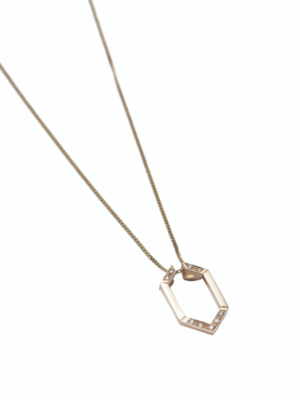 HARMONY Hex 9ct Gold & Diamond Pendant Jacket
