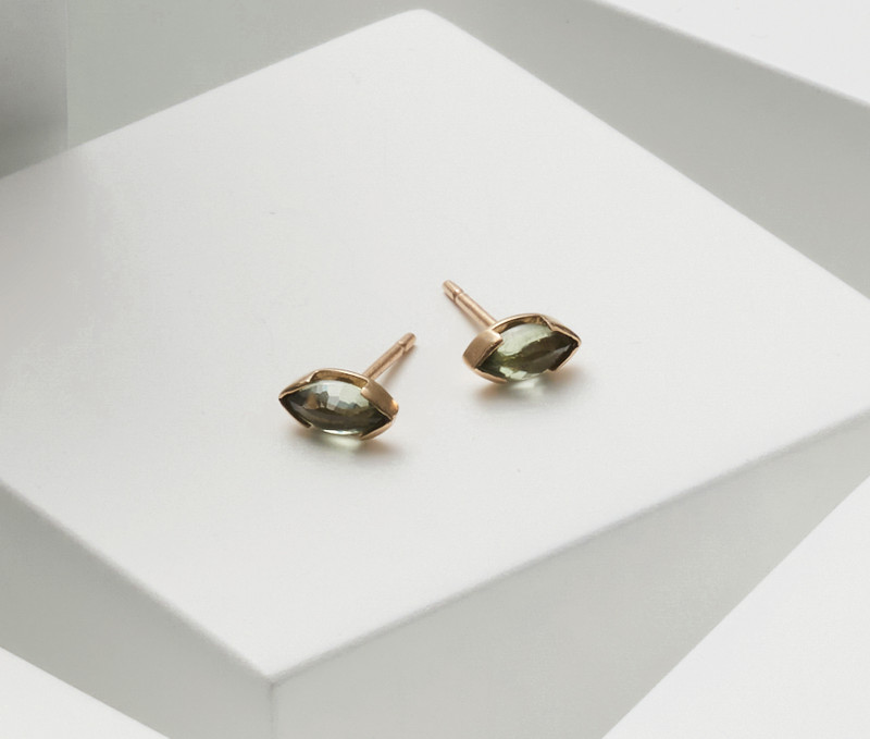 STAY Marquise Gemstone 9ct Gold stud