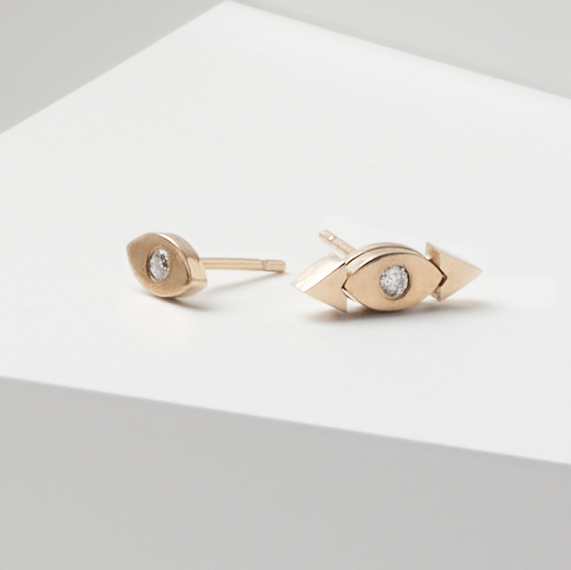 Shown here with our diamond studs