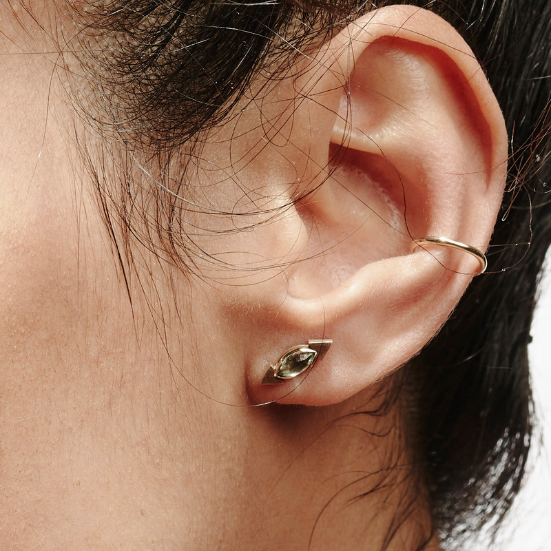 Shown here with our gemstone studs