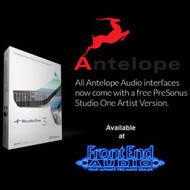 Antelope Audio now includes PreSonus Studio One Artist with all interfaces!