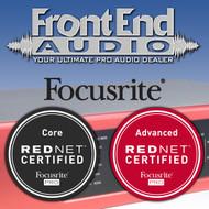 Front End Audio is Focusrite RedNet Certified