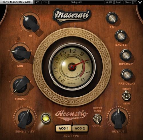 Waves Maserati Acg Acoustic Guitar Plug In Frontendaudio Com