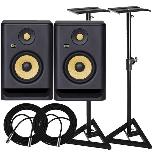 KRK RP5 Monitors & Stands Package