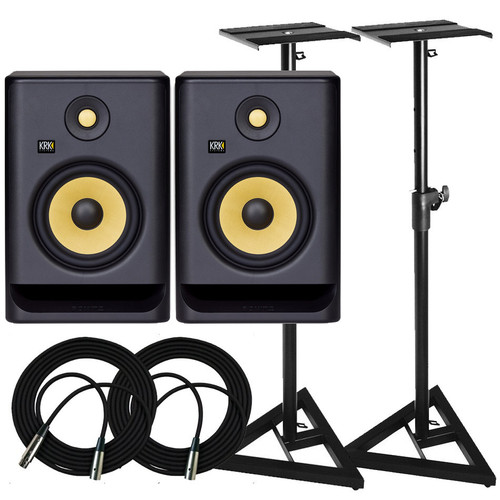 KRK RP7 Monitors & Stands Package