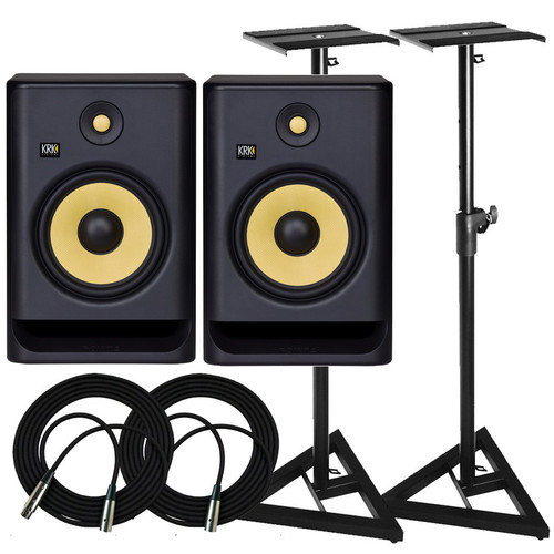 KRK RP8 Monitors & Stands Package