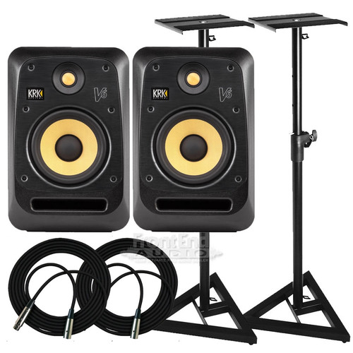 KRK V6S4 Monitors & Stands Package