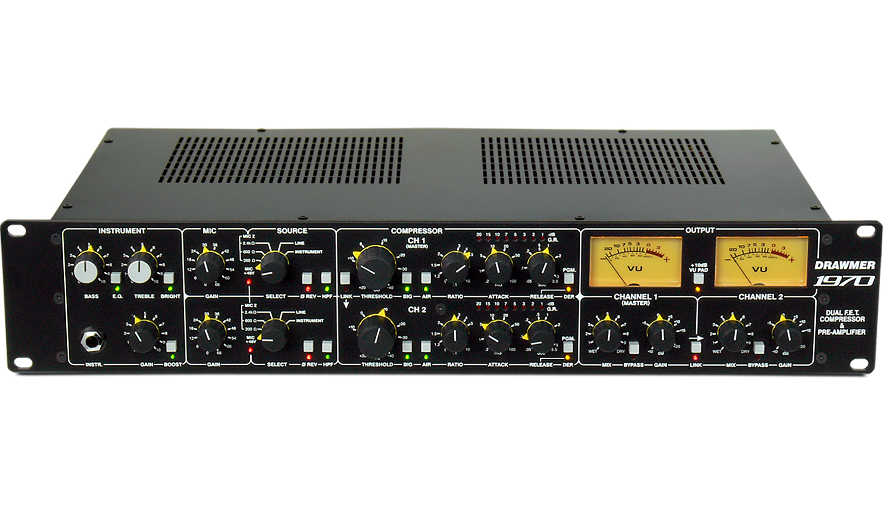 Check out the Brand New Drawmer 1970 Dual Compressor and Preamp!