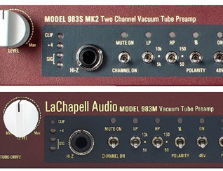 New Gear from LaChapell Audio - Introducing the 983S MK2 and 983M!