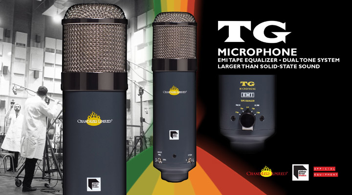 Chandler Limiter TG Microphone new at Front End Audio!