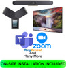Poly Medium Conference Room COMPLETE SOLUTION for Teams, Zoom, BYOD, SIP, and H.323