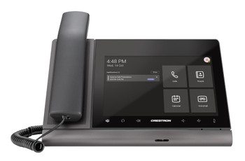 Crestron Flex 8 in. Audio Desk Phone with Handset for Microsoft Teams® Software
