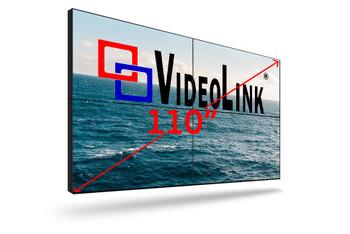 "55"" LED Backlit 0.88mm Ultra-Narrow Bezel 2x2 Video Wall Bundle UN552VS-TMX4P"