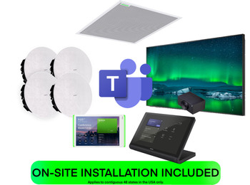 Microsoft Teams COMPLETE SOLUTION Medium Training Room or Classroom Featuring Shure, Crestron and Huddly