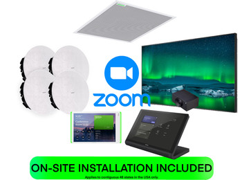 Zoom COMPLETE SOLUTION Medium Training Room or Classroom Featuring Shure, Crestron and Huddly