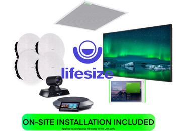 Lifesize COMPLETE SOLUTION Medium Training Room or Classroom Featuring Shure and Crestron for H.323 and SIP