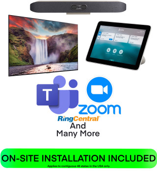 Poly Executive Office COMPLETE SOLUTION for Teams, Zoom, BYOD, SIP, and H.323