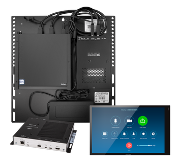 Crestron Flex Advanced Video Conference System Integrator Kit with a Wall Mounted Control Interface and Tiny PC for Zoom Rooms™ Software