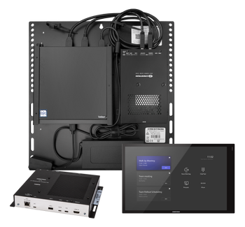 Crestron Flex Advanced Video Conference System Integrator Kit with a Wall Mounted Control Interface and Tiny PC for Microsoft Teams® Rooms