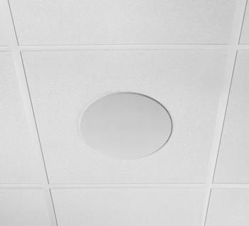 MICROFLEX MXN5W-C Networked 5.25 inch White Ceiling Dante Loudspeaker