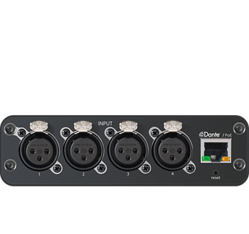 ANI4IN-XLR: Audio Network Interface, XLR Connector, no power supply included