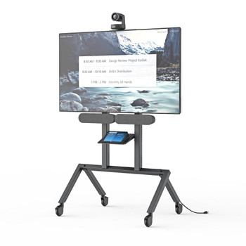 Heckler AV Cart for Logitech Rally Plus - Black Grey