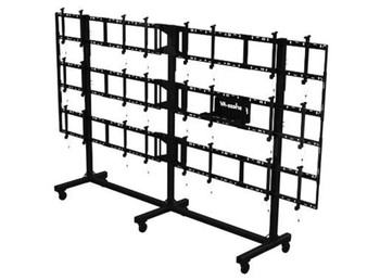 """SmartMount® Portable Video Wall Cart 4x3 Configuration for 46"""" to 55"""" Displays, DS-C555-4X3"""