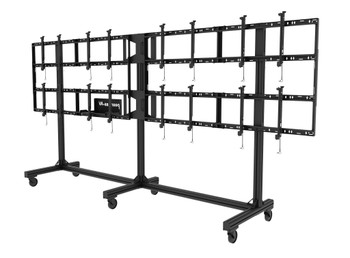 """SmartMount® Portable Video Wall Cart 4x2 Configuration for 46"""" to 55"""" Displays, DS-C555-4X2"""