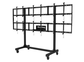 """SmartMount® Portable Video Wall Cart 2x2 and 3x2 Configuration for 46"""" to 55"""" Displays, DS-C555-3X2"""