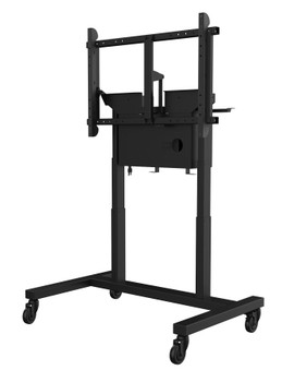 """SmartMount® Motorized Height Adjustable Tabletop Cart - 55-80"""" Displays"""
