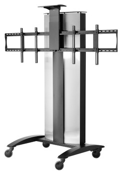 """SmartMount® Flat Panel Video Conferencing Cart for (2) 40"""" to 55"""" Displays"""